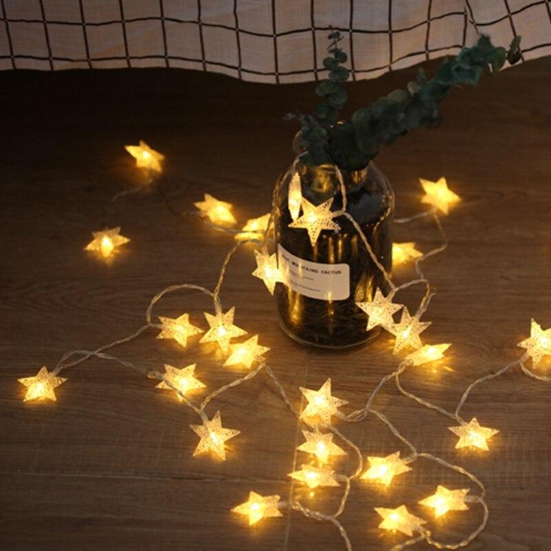 Dozzior 20 światła Gwiazda Lampki Nocne Wąż Ledowy Pokój