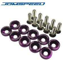 Jdmspeed 10 шт. фиолетовый заготовка алюминиевое крыло/БАМПЕР шайба/болт двигателя BAY платье комплект