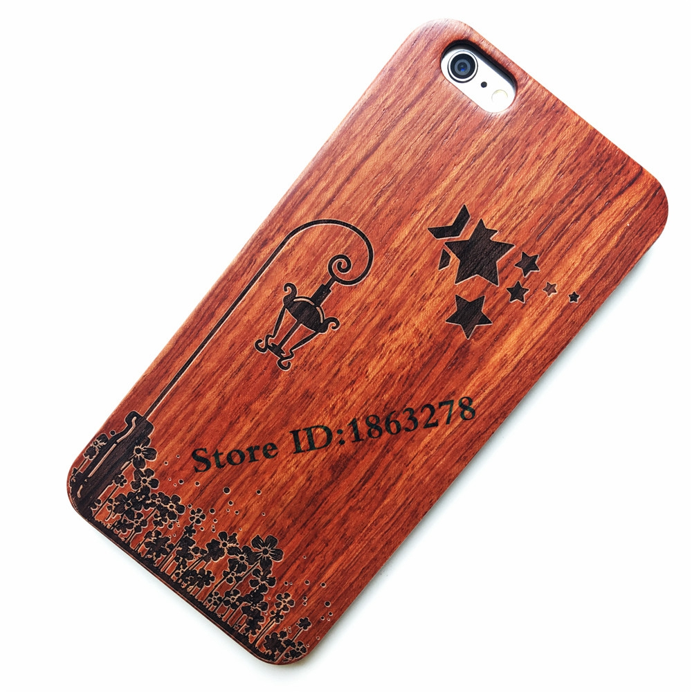 29Style Creative Lamp Star Flower Cartoon Wood <font><b>Phone</b></font> <font><b>Case</b></font> For <font><b>Iphone</b></font> 6 6plus 7 <font><b>7Plus</b></font> 6S Plus 5 5S SE Bamboo Wooden iphone5 Cover