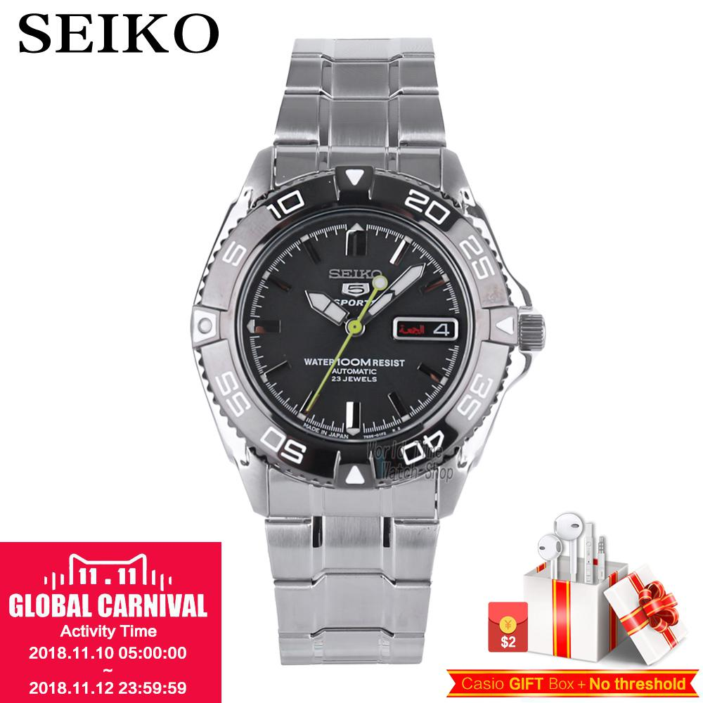 SEIKO No. 5 Watch Diving Sports Double Calendar Display Automatic Mechanical Waterproof Men's Watch Made in Japan SNZB23J1 цена и фото