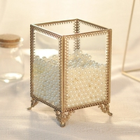 New Elegant Multifunctional Jewelry Box with Pearls Portable Storage Boxes Transparent Home Office Table Sundries Container C705