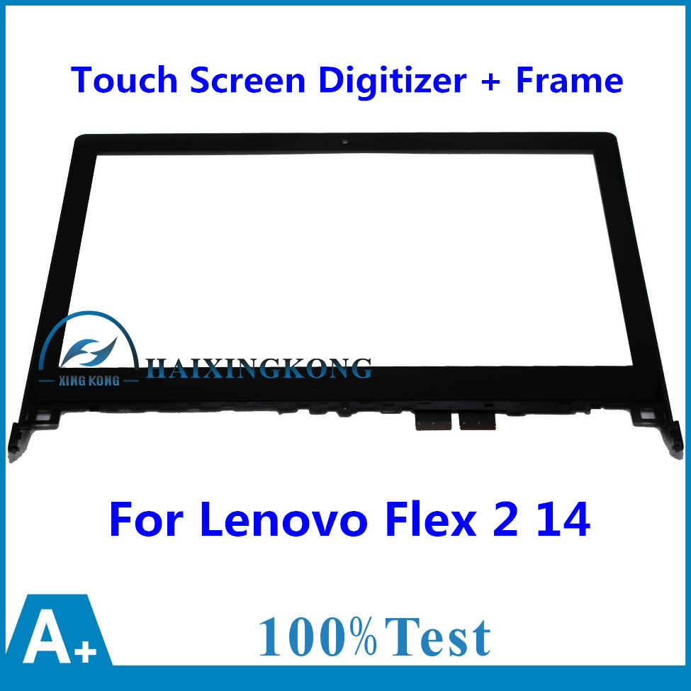 14 For Lenovo Flex 2 14 20404 Flex 2 14D 20376 Front Outter Touch Screen Panel Digitizer Glass Lens Sensor Replacement + Frame free shipping for lenovo yoga 500 14 for lenovo flex 3 14 flex 3 14 replacement touch screen digitizer glass 14 inch black