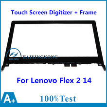 "14 ""para lenovo flex 2 14 20404 flex 2 14d 20376 frente Outter Lente de Cristal de Reemplazo del Sensor del Panel Digitalizador de Pantalla Táctil + Frame"