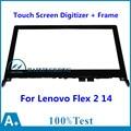 14 For Lenovo Flex 2 14 20404 Flex 2 14D 20376 Front Outter Touch Screen Panel Digitizer Glass Lens Sensor Replacement + Frame