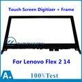"""14 """"para lenovo flex 2 14 flex 2-14d 20376 frontal de la tableta Outter Lente de Cristal de Reemplazo del Sensor del Panel Digitalizador de Pantalla Táctil + marco"""