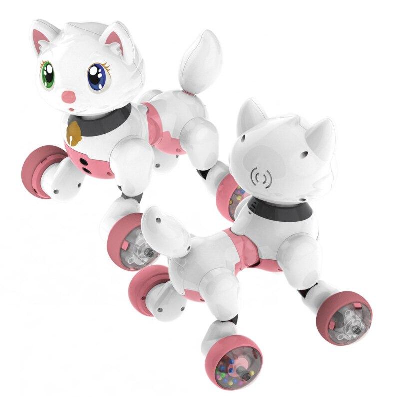 controlado por voz brinquedos educativos interativos cao gato de estimacao eletronico inteligente com cantar dacing frente