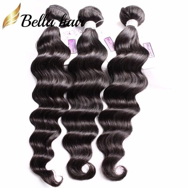 Bella Hair 3 Bundles 9a Brazilian Hair Loose Deep Wave Human Hair