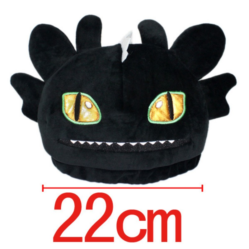 HOT SALE Movie How to Train Your Dragon 2 Night Fury Plush Hat Women Men's Children Kids Costume cosplay Beanie new fashion