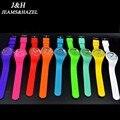 Genebra prata bolso colorido mulheres de pulso de quartzo moda casual relógio de quartzo relógio do esporte barato crianças Do Sexo Feminino