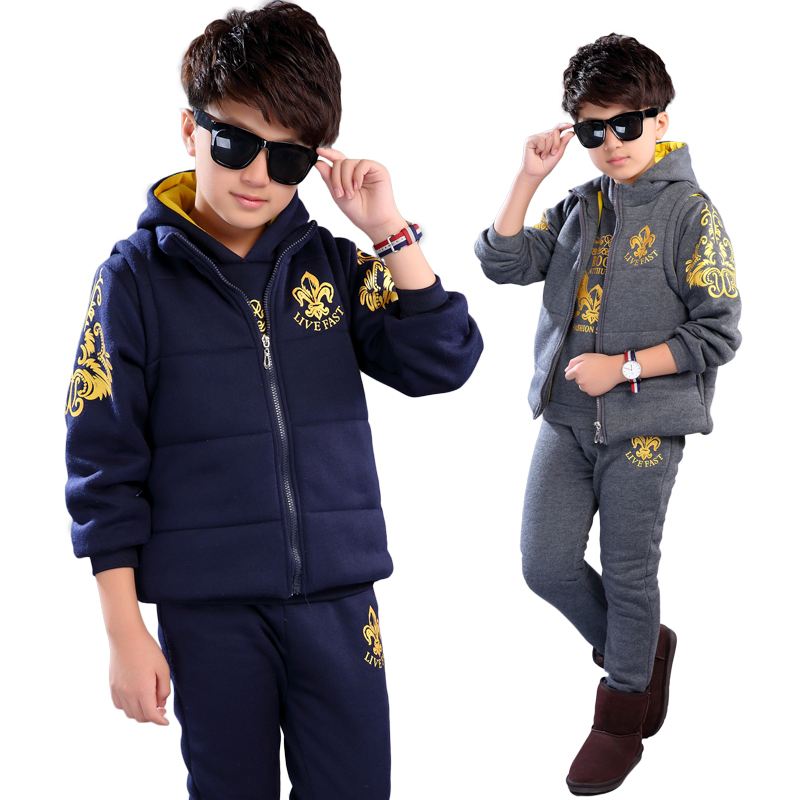 Caker Brand 2017 3 Pieces Autumn Winter Boys Clothing Sets Kids Jacket+ pants Children Sport Suits Boys Clothes Set Kid Sport Su student performance clothes children clothing sets boys blazers wedding sets pieces boys tuxedo suits