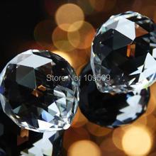 30 шт. AAA 20 мм прозрачная Люстра Хрустальный подвесной шар Призма Suncatcher фэн-шуй подвеска оправы для подвешивания