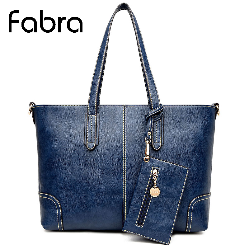 Fabra 2Pcs/Set Women Messenger Bags PU Leather Solid Shoulder Bags Women Tote Handbags Large Capacity CrossBody Bags 46*16*30 CM fabra women cute cartoon pu leather