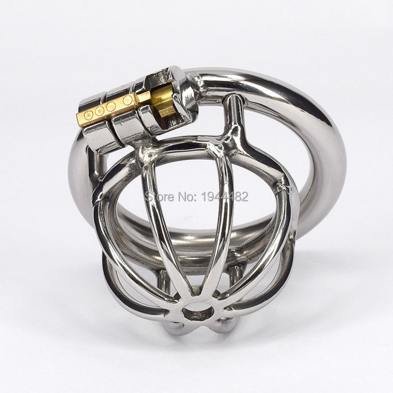 Stainless Steel Penis Lock Male Chastity Belt Penis Ring Bondage Toys Metal Cock Cage Chastity Device For Men Adult Sex Product  small chastity device stainless steel cock cage metal male chastity belt penis ring bondage sex toys dragon totem virginity lock