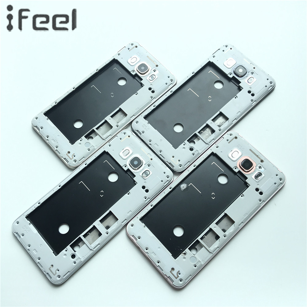 New LCD Holder Frame +Middle Plate Frame Bezel Housing+Side Button+Camera Glass Lens For Samsung Galaxy J7 2016 J710 J710F J710M