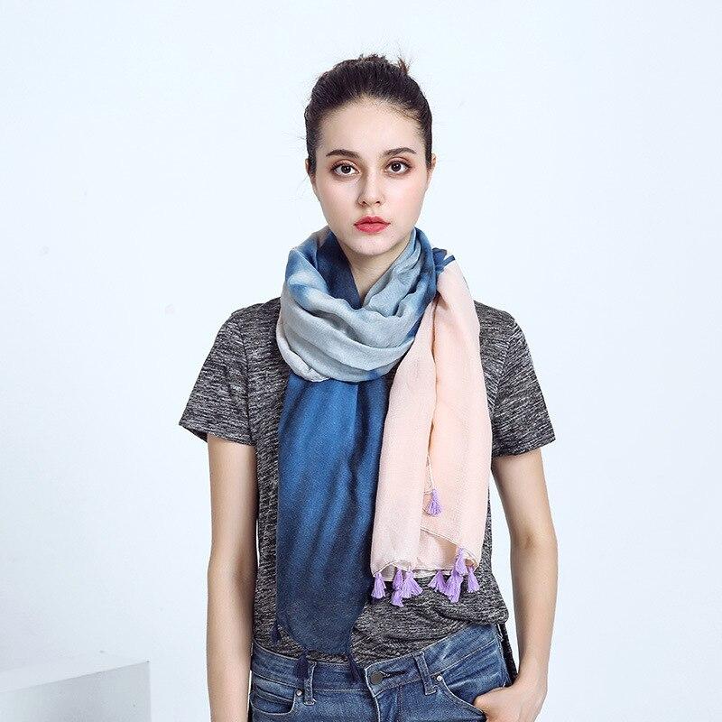 Принт градиент кисточкой Одеяло шифон шарф лоскутное шелковый Лидер продаж Мода