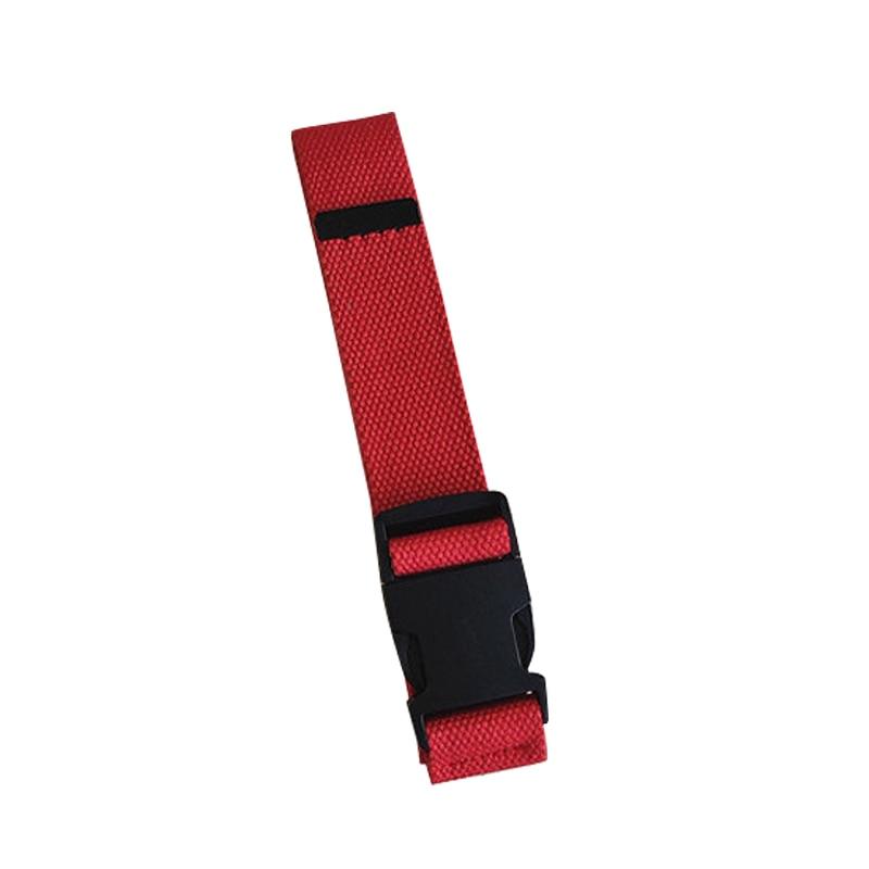 Adults Adjustable All-Match Belt Unisex Korean Style Canvas Belts Vintage Plastic Buckle Elastic Solid Color Long Waistband - Цвет: Красный