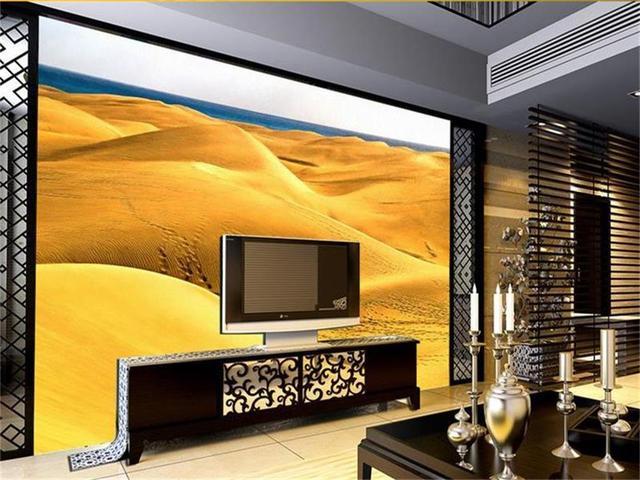 US $16.68 46% OFF|Benutzerdefinierte 3d fototapete wohnzimmer mural wüste  schöne landschaft 3d malerei tv hintergrund vliestapete für wand 3d in ...