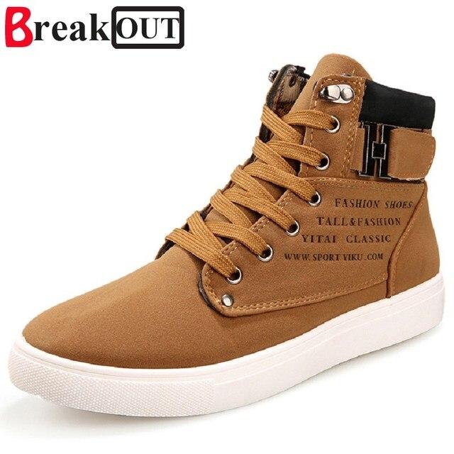 Break Out Yeni Erkek Botları Erkekler Için Deri Çizmeler Nefes İlkbahar Sonbahar Yaz Moda erkek ayakkabısı Rahat Büyük Boy 45 46