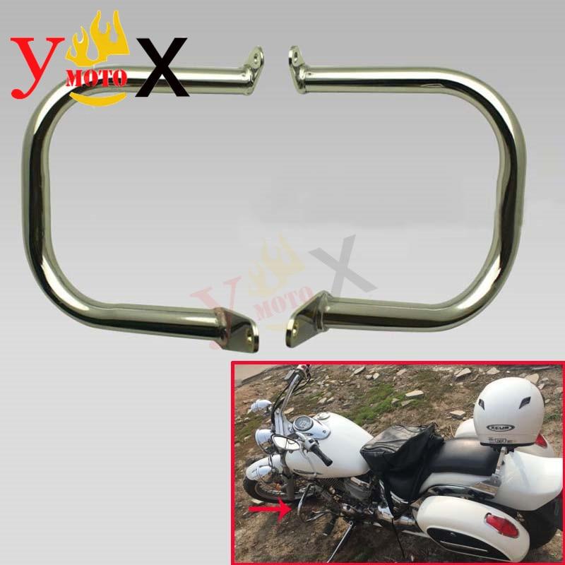 DS400 650 Motorcycle Engine Guard Crash Bar Protector Safety Bumper For Yamaha Vstar 400 650 Classic