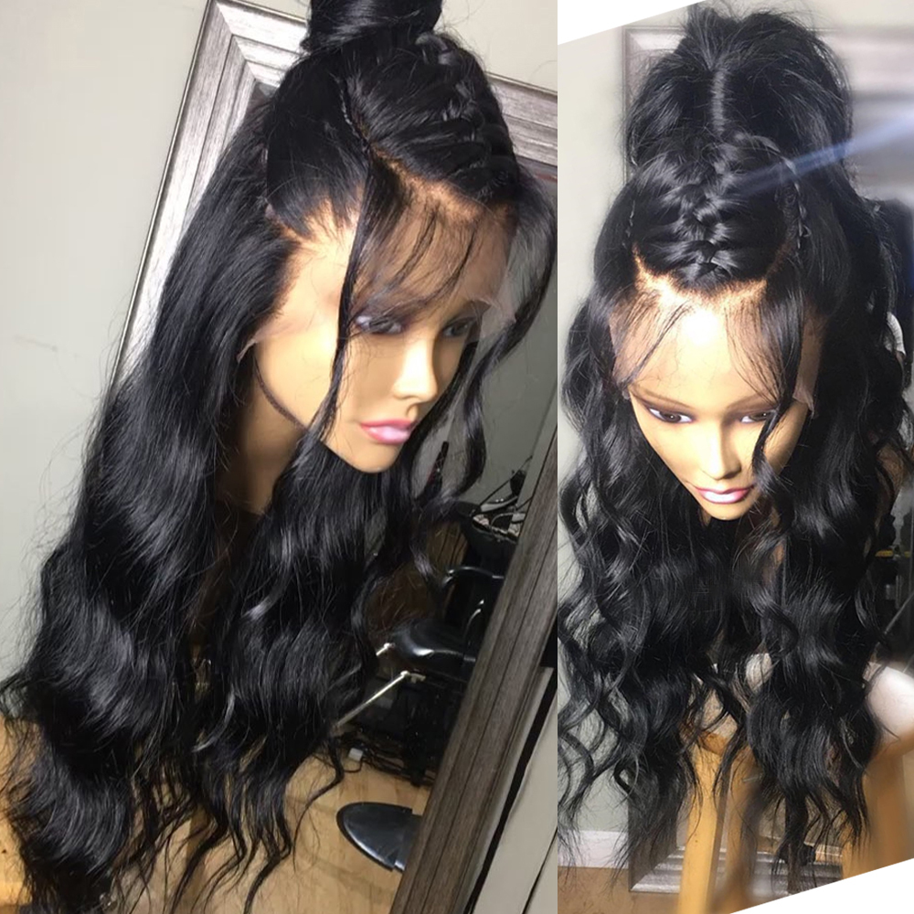 Sapphire Lace Front Human Hair Wigs Pre Plucked Brazilian Body Wave Wigs For Women Remy Hair