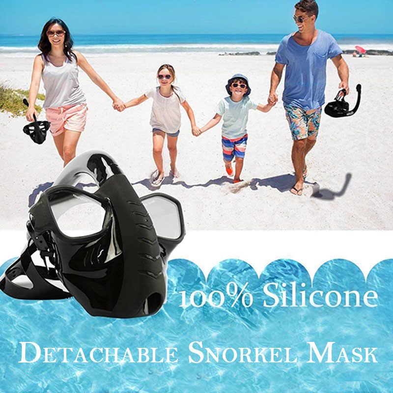 Máscara de Respiração subaquática Mergulho Cara Cheia Máscara de Mergulho Snorkeling Set Spray Anti Nevoeiro Natação Mergulho para Gopro Camera