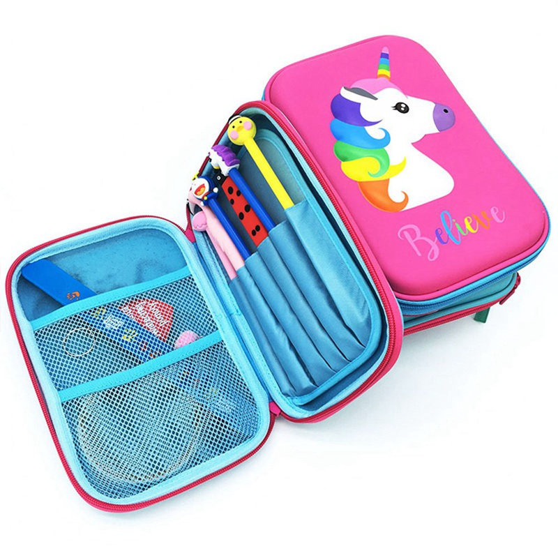 1 PCS Cartoon Unicorn Pencil Case EVA Pen Pouch Stationery Box Anti-Shock For School Students Girls Teens Kids Stationary Gifts1 PCS Cartoon Unicorn Pencil Case EVA Pen Pouch Stationery Box Anti-Shock For School Students Girls Teens Kids Stationary Gifts