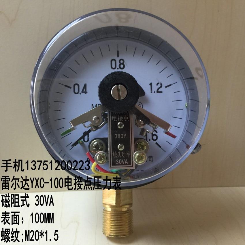 Leierda YXC 100 electric contact pressure gauge and vacuum gauge ...