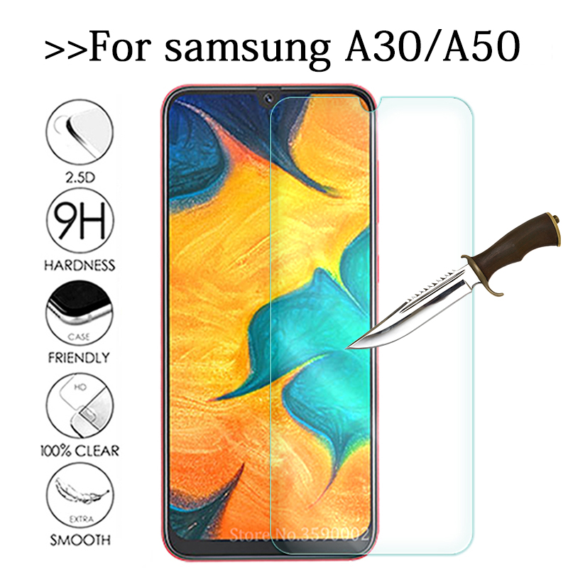 Tempered Glass For Samsung Galaxy A50 A30 Screen Protector 9H Safety Protective Phone Film On sumsung A 30 50 SM A305FD A505FD