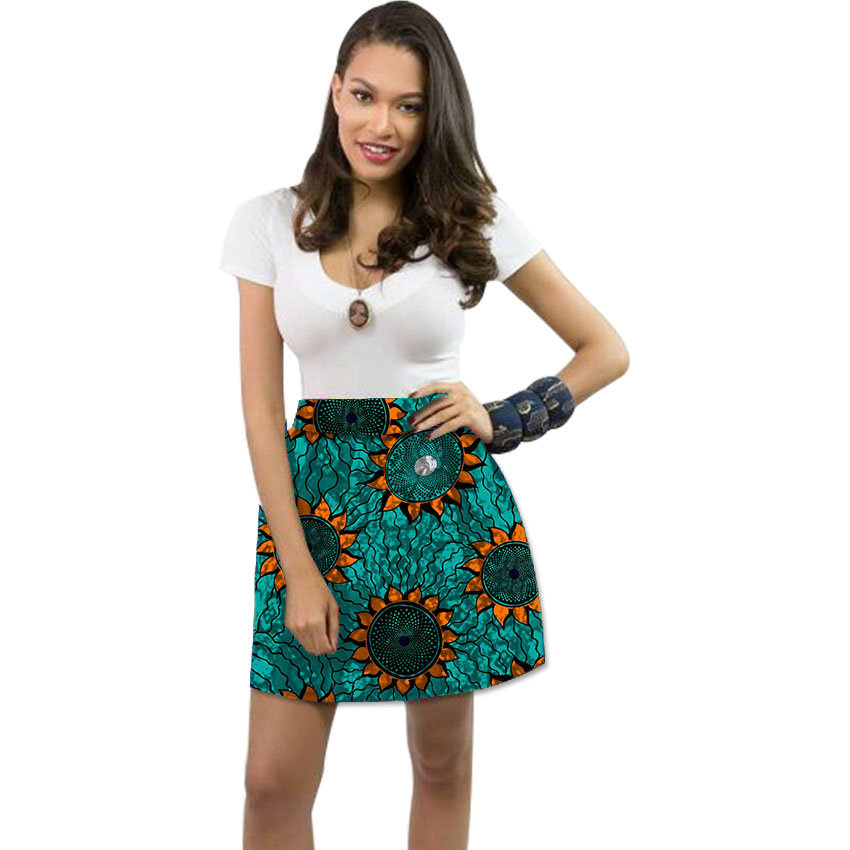 Women african leisure skirts colorful element african print dashiki skirts africa clothing tailor custom