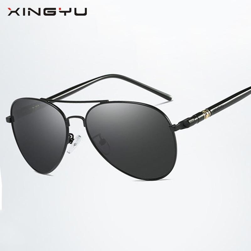 XINGYU 2018 Aviador Sunglasses Men Brand Design Pilot Sunglasses Women Glass Lens Driving Sunglasses Oval Mirror Goggles UV400