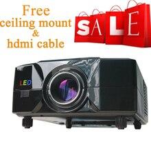 Free shipping ! Portable Multimedia 50″-120″ Big Screen Projector