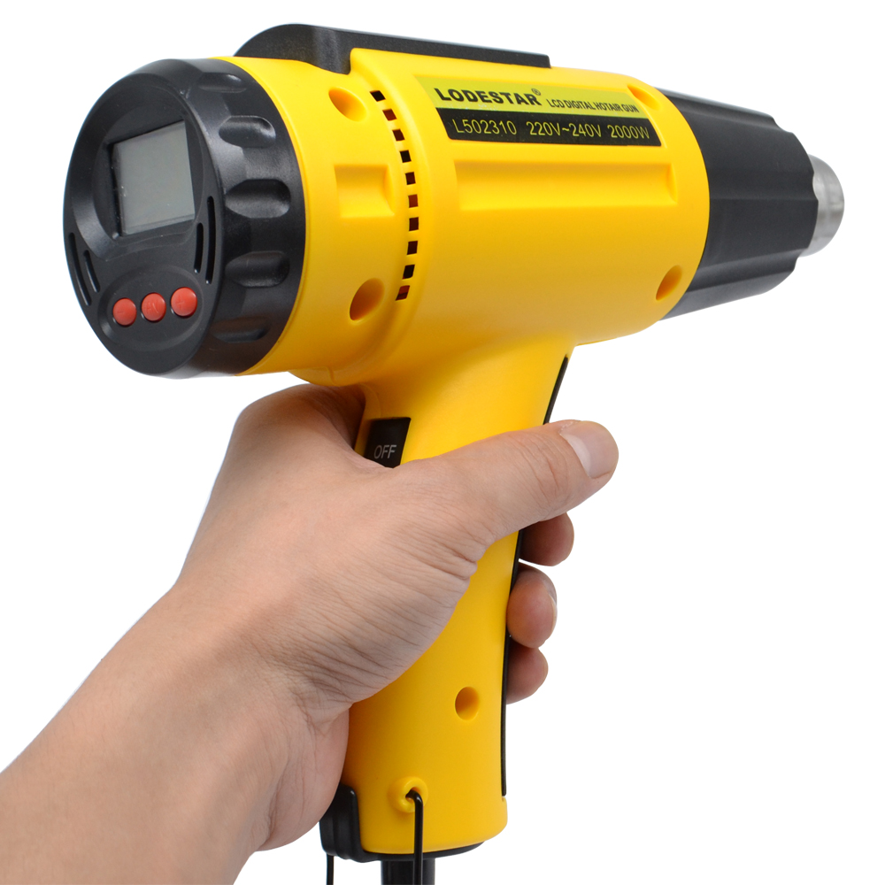 2000W 220V heat gun Digital Electric Hot Air Gun Temperature-controlled Heat IC SMD Welding Tools Adjustable Quality +1 Nozzle lodestar 1800w 220v electric hot air gun handheld heat adjustable diy welding tool thermal heater hot soldering gun w nozzle