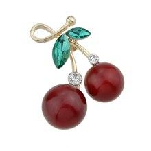 Red Cherries Brooch Pin