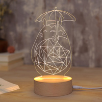 2019 Brand design Cartoon Cat 3D Lamp With USB , And Bedside acrylic bedroom Decoration night light