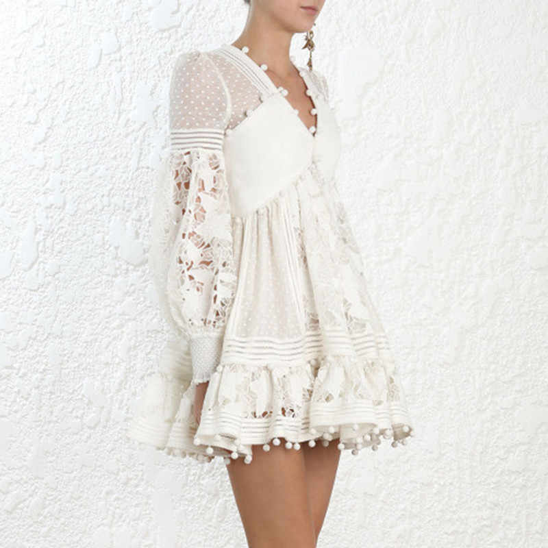 short casual white lace dress