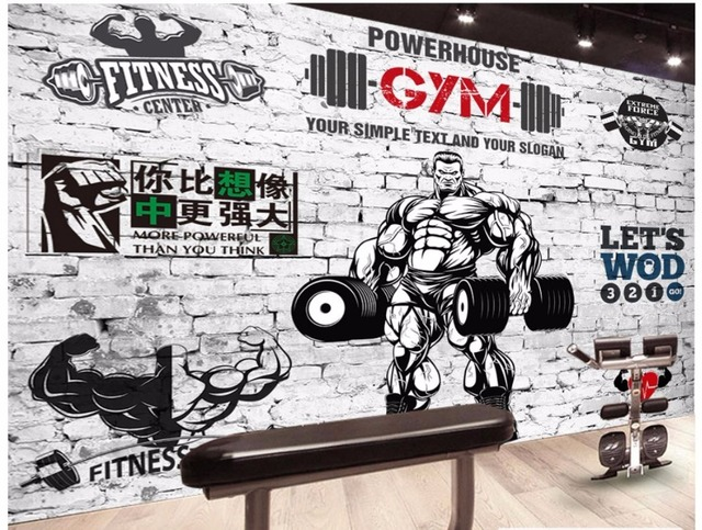 Gym Wall Murals 3D wall murals wallpaper custom picture mural Gym