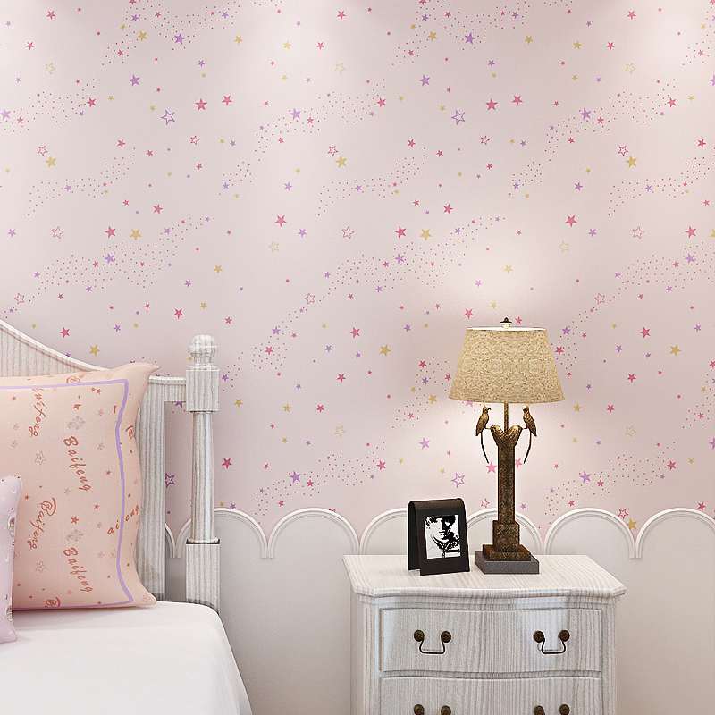 Stars Galaxy Wallpaper Dream Gilrs Boys Children Bedroom Wall Blue Pink tapety papel de parede infantil wall paper for kids room