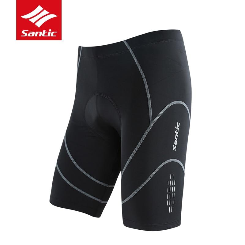Santic Men Coolmax 4D Padded Bicycle Cycling Shorts Reflective MTB Road Bike Shorts Quick Dry Men's Outdoor Riding Short Pants