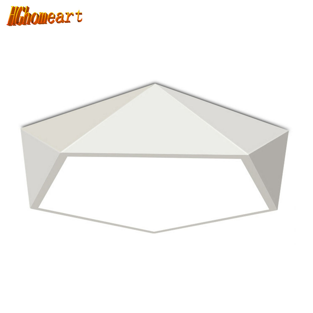 HGHomeart Modern Geometry Ceiling Lights LED Energy Saving Lamp Bedroom Light Romantic Home Decor Night Lights Lighting 110/240V tiffany mediterranean style peacock natural shell ceiling lights lustres night light led lamp floor bar home lighting