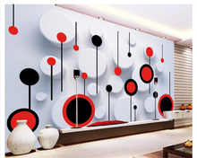 beibehang wallpaper for walls 3 d wallpaper any size fashion trend circle 3D TV backdrop wall papel de parede papier peint  beibehang any size size wallpaper dinosaur tv wall murals children bedroom papel de parede 3d wallpaper wall 3 d papier peint