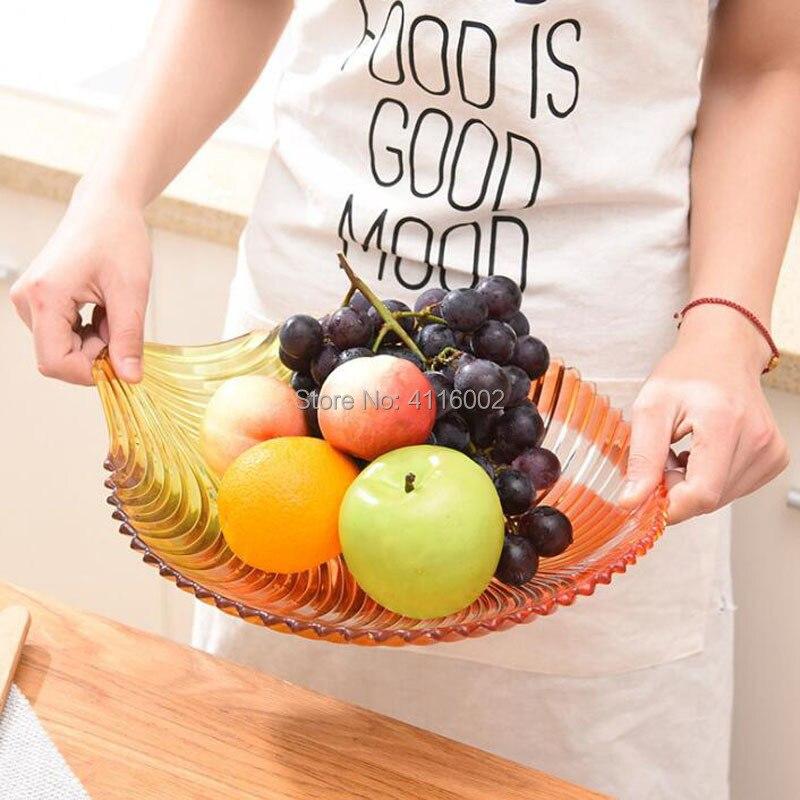 Plat de bonbons en forme de feuille de cristal de luxe assiette de fruits plateau de collation en plastique décoration de Table de fête de mariage à la maison