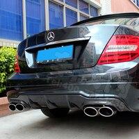 AMG Carbon Fiber Rear Bumper Diffuser For Mercedes Benz W204 C63 AMG Style 2012 2014