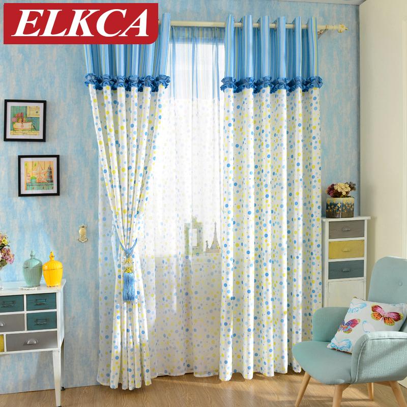 Mittelmeer Endlosen Blau Vorhnge Fr Das Schlafzimmer Wohnzimmer Kinder Fenster Gardinen Voile Tll