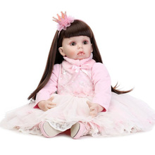 28 inch Big Size Toddler baby Born Girl Doll Dress up Doll Toy Model Gift for Girls