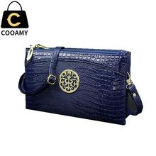 Zipper PU Leather Messenger Bags Fashion Handbags Small Bags Purse Long Crocodile Clutch Purse With Logo Crossbody Bag Wrislet