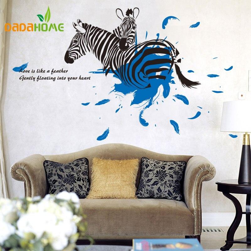 pony wall living diy bedroom decor zebra mural vinyl garden
