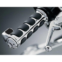 2x 1 Inch Chrome Throttle Assist Bar Ends Motorcycle Rubber 1 Handlebar Hand Grips For Honda