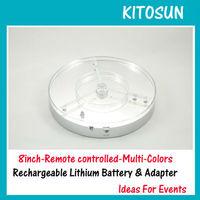 5pcs/Lot Free Shipping 8inch 3W RGB Multi colors Spot LED Light Base Centerpiece Lighting Decoration Party Floral Light