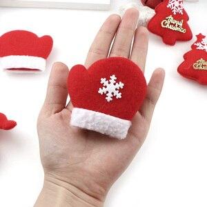 10PCS Frohe Weihnachten Ornament plüsch schneemann zubehör Handwerk Neue Jahr DIY Santa Claus Anhänger Von Einrichtungs Baum Dekoration