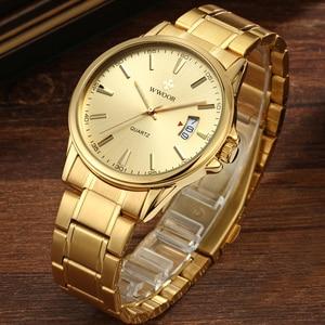 Image 3 - Watches men 2019 Top Brand Luxury Stainless Steel Gold wristwatch men Waterproof golden male watch men 2018 Relogio Masculino